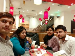 Dr Upendra Kumar @Burger King, MG Road Gurgaon, Gurgaon