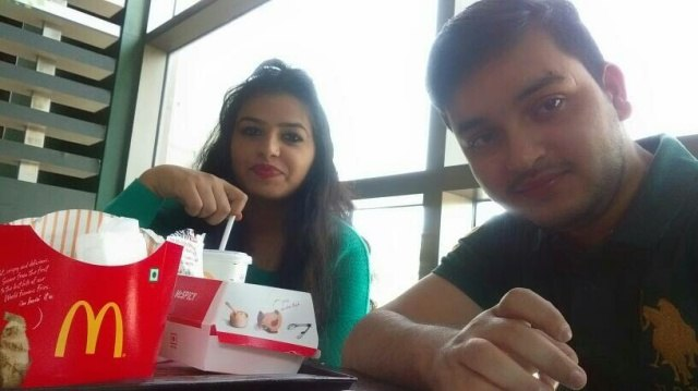 Prateek @McDonald's, MGF Metropolis Mall, MG Road, Gurgaon