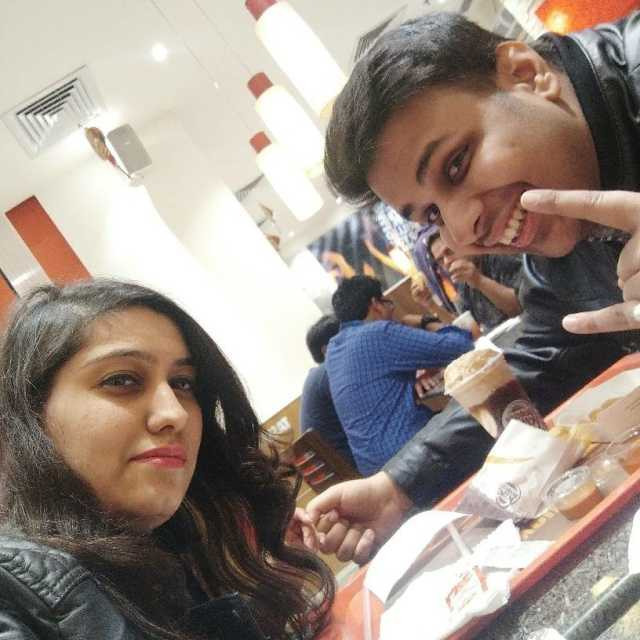 Vanshika @Burger King, MG Road, Gurgaon