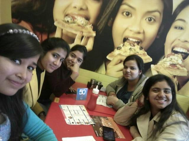 Manisha Sharma @Domino's Pizza, Connaught Place (CP), New Delhi