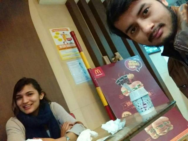 Shubham Bisht @McDonald's, Leisure Valley Road, Sector 29, Gurgaon