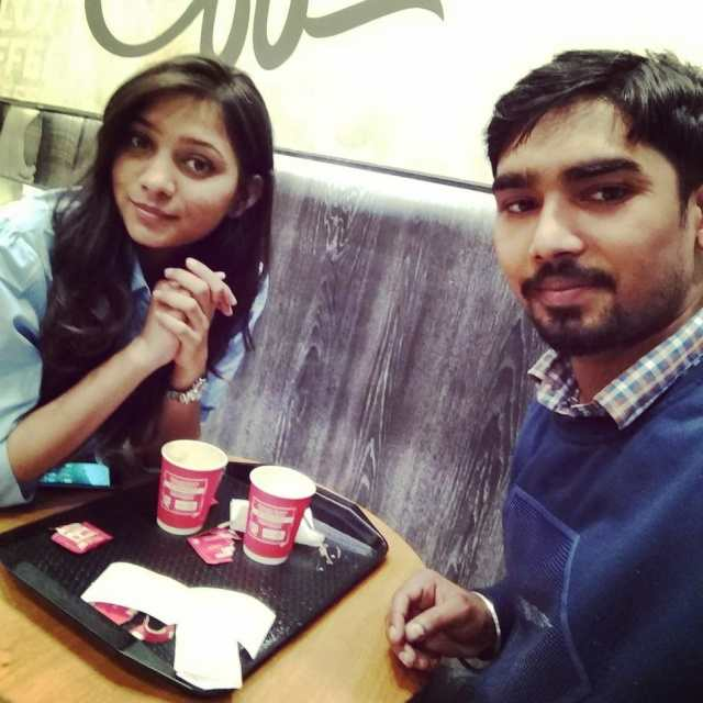 Ankit Vish @Cafe Coffee Day, Rajiv Chowk, Connaught Place (CP), New Delhi